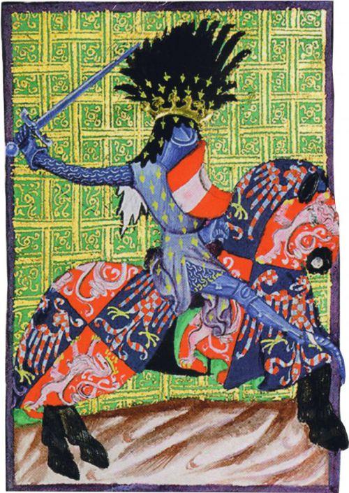 Vyobrazenie Přemysla Otakara II. v zbroji v Gelhausenovom kódexe